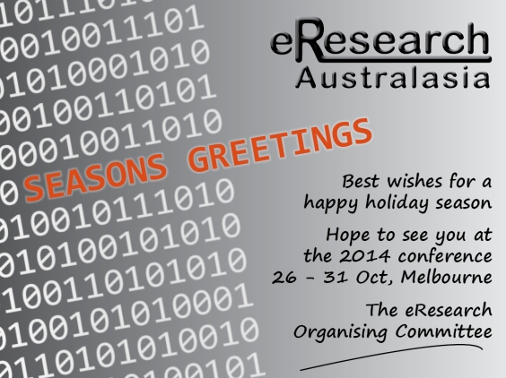 eResearch 2013 Greetings Card